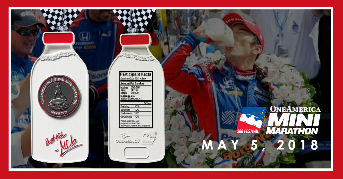 The 2018 Medal Symbolizes A Time Honored Tradition And Staple Of Victory At Indianapolis 500 That Dates Back To 1936 Milk Bottle